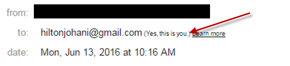 Gmail Says Its Me. Oh, Ok!