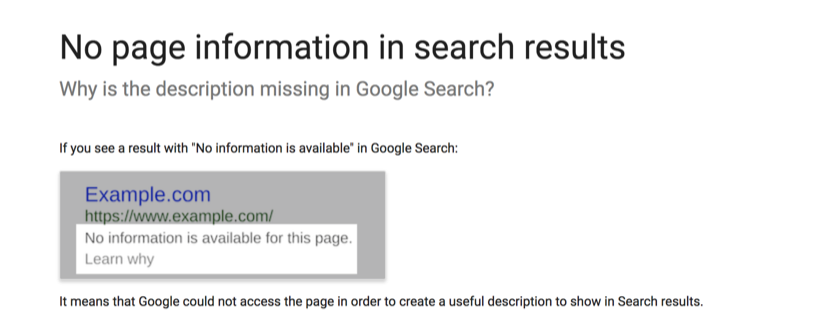 No page information in search results