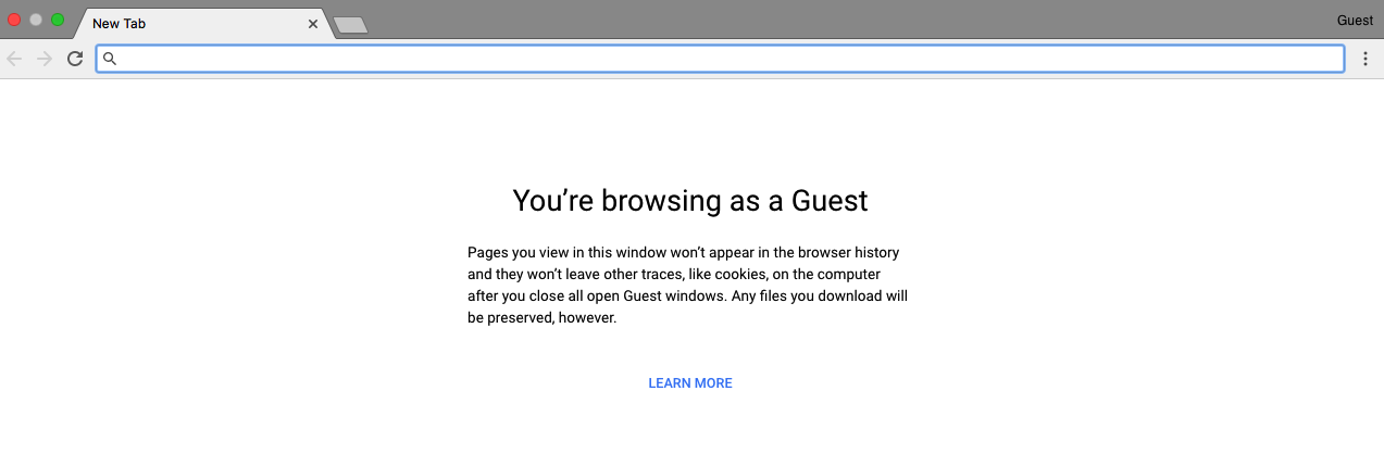 Browse Chrome as a guest